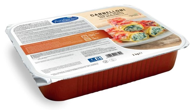 Cannelloni kg. 2 ricotta/spinaci/besciamella
