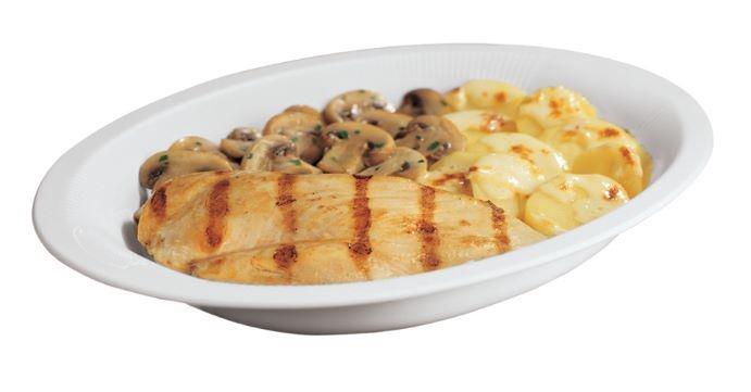 Filetti pollo con funghi e patate gr. 300