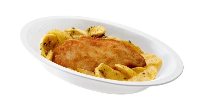 Cotoletta di Pollo con patate gr. 300