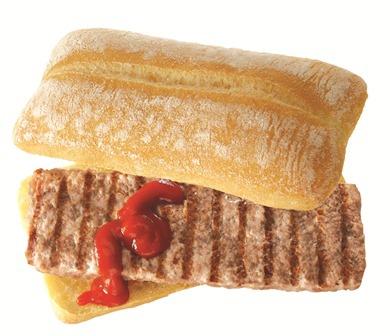 Luna Park: ciabatta,salsiccia,ketchup  190 gr.