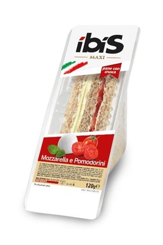 Tramezzino mozzarella, pomodorini gr. 120 con pane integrale