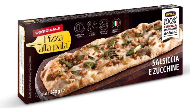 Pizza alla pala Salsiccia e Zucchine 240 gr.