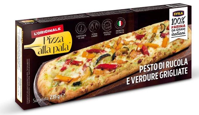 Pizza alla pala Pesto di Rucola e verdure grigliate gr. 235