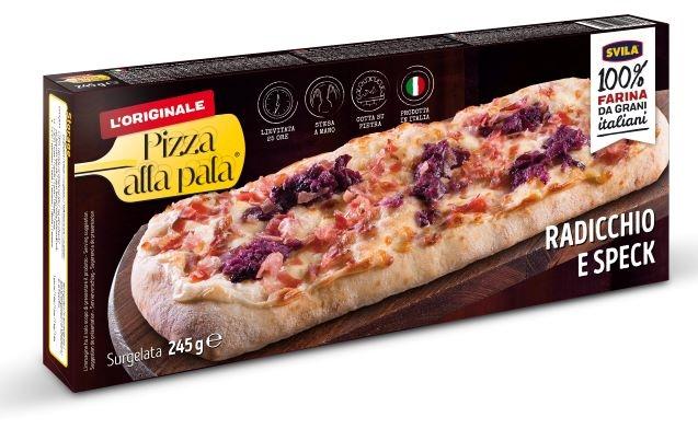 Pizza Pala Provola Radicchio e Speck gr. 245