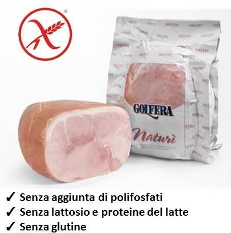 Prosc. cotto Naturì dimezzato kg.4 ca.