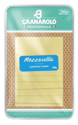 Mozzarella 5x10 cm 400 gr. (32 fette)