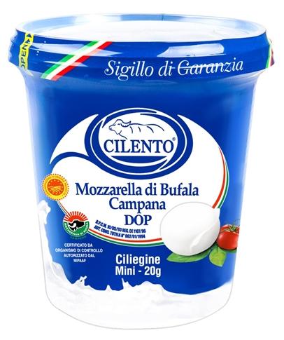Mozzarella Bufala DOP 25x20 gr. secchiello Cilento