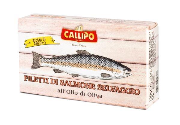 Callipo Filetti di Salmone o.o. 120 gr. lattina