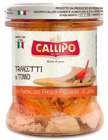 Trancetti di tonno con peperoncino Callipo vaso 170 gr.