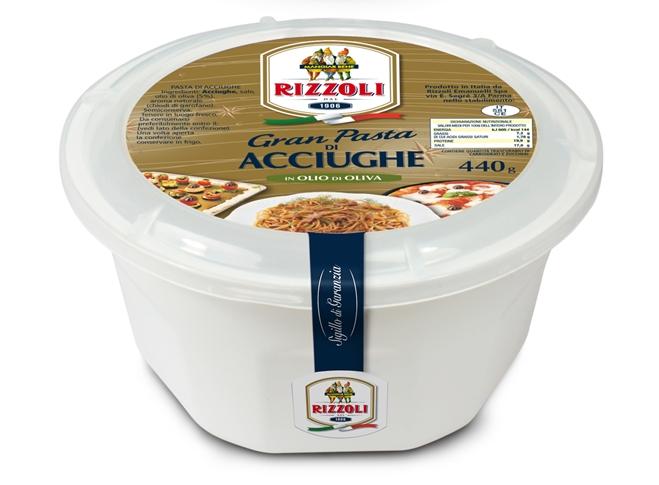Pasta acciughe in olio olive secchiello gr. 440