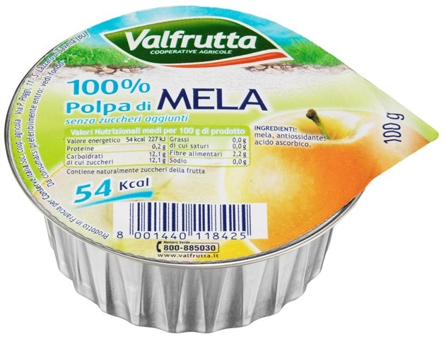 Valfrutta normale Polpa di Mela gr. 100