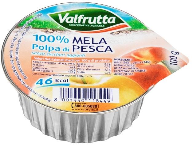Valfrutta normale polpa di Mela e Pesca gr. 100
