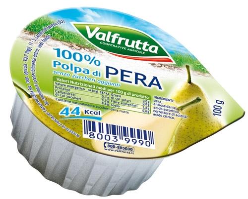 Valfrutta normale polpa di Pera gr. 100