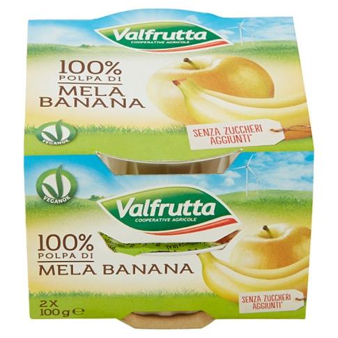 Valfrutta Polpa di Mela e Banana 2x100gr.