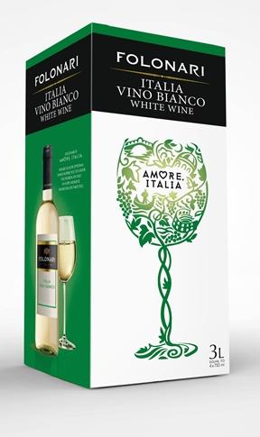 Vino Bianco d'Italia Folonari lt. 3 BIB 11.50%