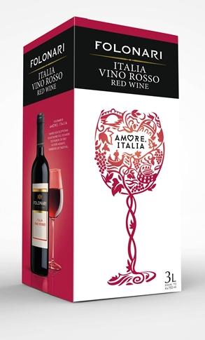 Vino Rosso d'Italia Folonari lt. 3 BIB 11.50%