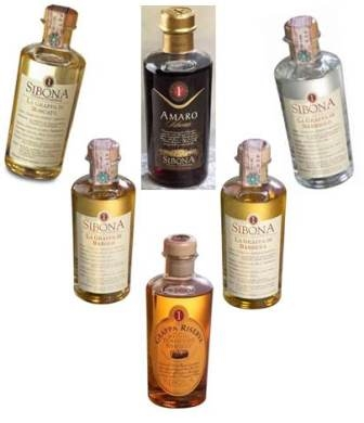 Cartone misto grappe e amaro Sibona (6 bottiglie) :