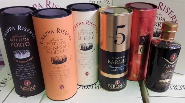 Cartone misto grappe Pregiate e amaro Sibona (6 bottiglie) :