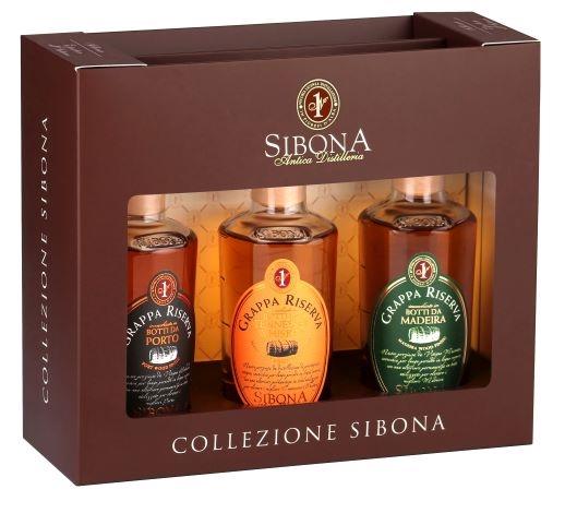 Conf. grappa Mini 3x20 cl Porto-Whisky-Madeira vol. 44