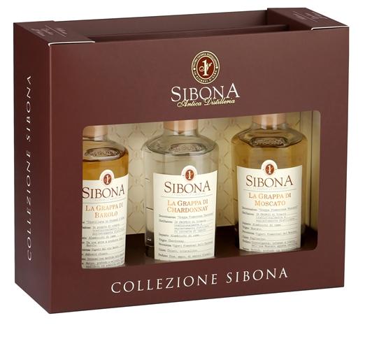Conf. grappa Mini 3x20 cl Moscato-Barolo-Chardonnay vol. 40