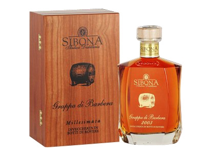 Grappa di Barbera millesimata 44 vol. lt. 0.7 Sibona