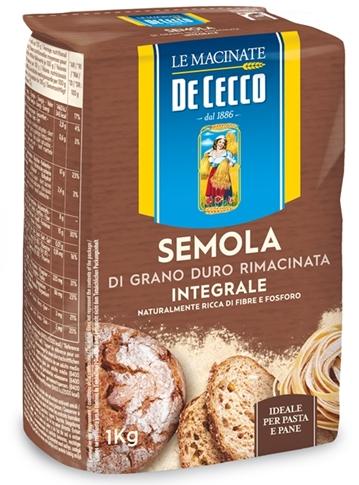 Semola di grano duro rimacinata integrale kg. 1