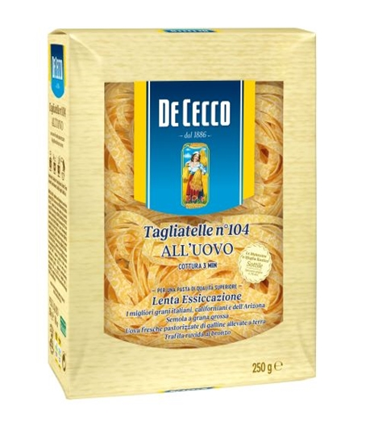 Tagliatelle uovo De Cecco kg. 0.25