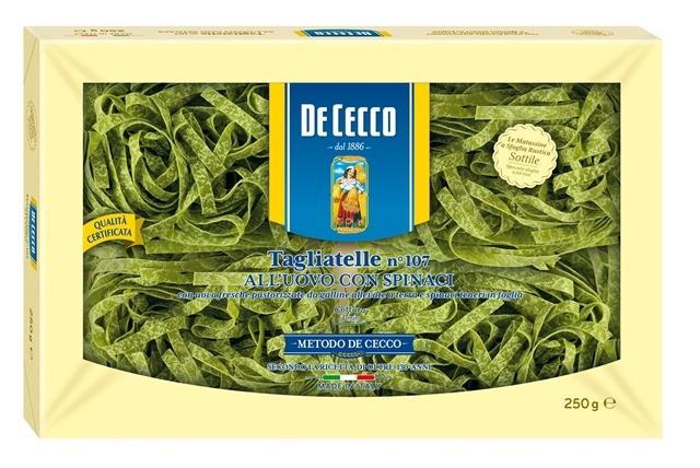 Tagliatelle uovo spinaci De C. kg. 0.25