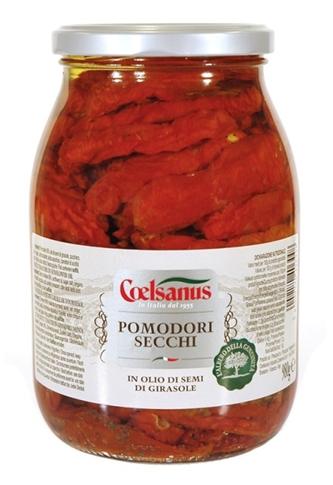 Pomodori secchi olio vaso kg. 0.980