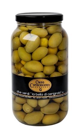 Olive verdi Bella Cerignola 7/8 kg. 2.9 vaso