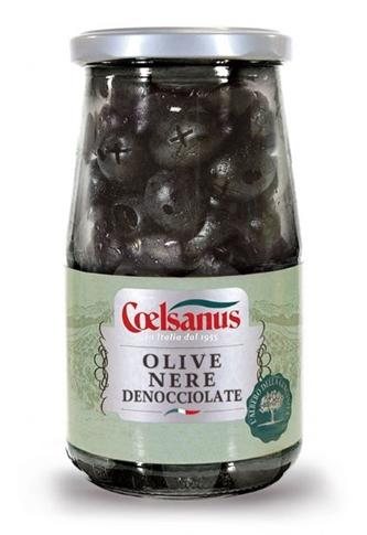 Olive nere asciutte denocciolate gr.150 vaso
