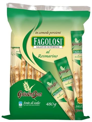 Grissini Fagolosi Rosmarino Ristorante kg.2.4  (5 x 480 gr.)