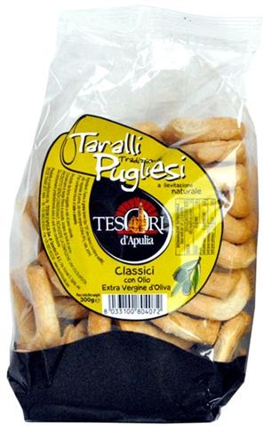 Taralli classici olio gr. 300 Tesori d'Apulia